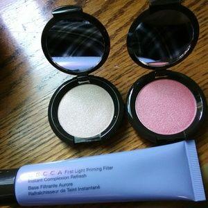 Becca primer,highlighter and blush